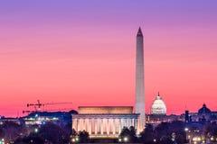 Skyline do Washington DC Fotos de Stock