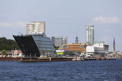 Skyline and Dockland in Hamburg, Germany Stock Image