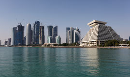Skyline of Doha Stock Image