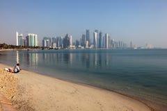 Skyline of Doha downtown Stock Photo