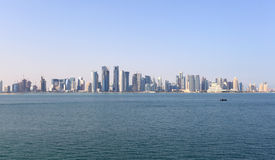 Skyline of Doha downtown Royalty Free Stock Photo