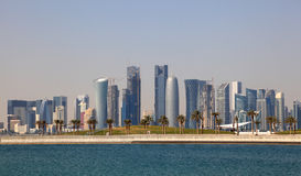 Skyline of Doha downtown Royalty Free Stock Photography