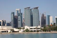 Skyline of Doha downtown Royalty Free Stock Photo