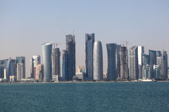 Skyline of the Doha downtown Royalty Free Stock Photography