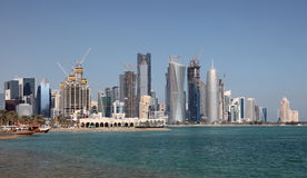 Skyline of Doha downttown. Qatar Royalty Free Stock Photo