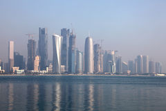 Skyline of Doha, Qatar Stock Images