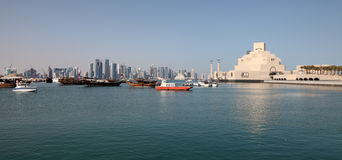 Skyline of Doha, Qatar Stock Image