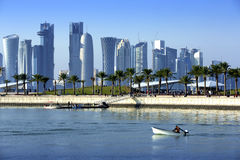 Skyline of the Doha Stock Images