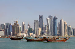 Skyline of Doha Stock Photography