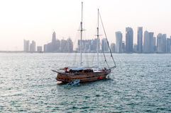 Skyline of Doha, west bay, Doha, Qatar Royalty Free Stock Photos