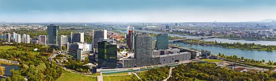 Skyline Donau City Vienna Royalty Free Stock Photos
