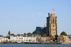 Free Skyline Dordrecht With Hooikade And Great Church Royalty Free Stock Photo - 111413575