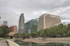 Skyline of Down Town Omaha Nebraska  Stock Photos