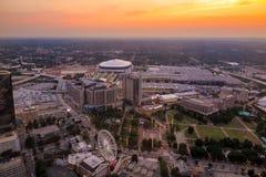 Skyline of downtown Atlanta, Georgia. USA Royalty Free Stock Photos
