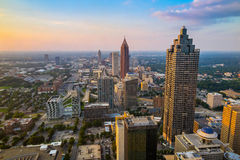 Skyline of downtown Atlanta, Georgia. USA Royalty Free Stock Image