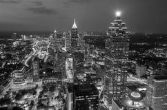 Skyline of downtown Atlanta, Georgia. USA, black, white Stock Photography