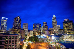 Skyline of downtown Charlotte in north carolina Stock Photography