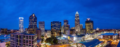 Skyline of downtown Charlotte in north carolina Royalty Free Stock Images