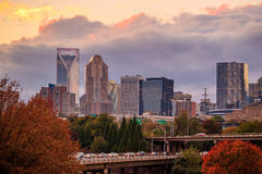 Skyline of downtown Charlotte in north carolina Stock Image