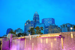 Skyline of downtown Charlotte in north carolina. USA Royalty Free Stock Image