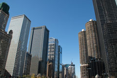 Skyline in downtown Chicago, Illinois Stock Images