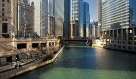 Skyline in downtown Chicago, Illinois Stock Photo