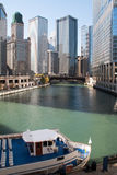 Skyline in downtown Chicago, Illinois Royalty Free Stock Photography
