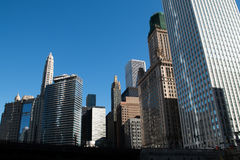 Skyline in downtown Chicago, Illinois Stock Photography