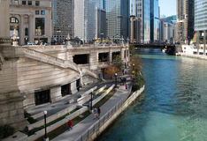 Skyline in downtown Chicago, Illinois Royalty Free Stock Images
