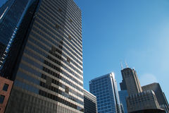 Skyline in downtown Chicago, Illinois Royalty Free Stock Photo