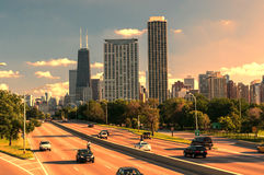Skyline of Downtown Chicago Royalty Free Stock Image