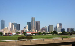 Skyline of downtown Dallas royalty free stock photo