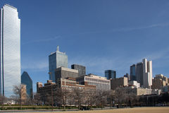 Skyline of downtown Dallas stock photography