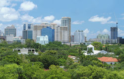 Skyline of Downtown Fort Lauderdale Royalty Free Stock Image