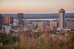 Skyline of Downtown Hamilton, Ontario royalty free stock image