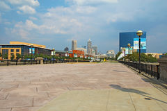 The skyline of downtown Indianapolis, Indiana Stock Images