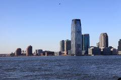 Skyline of Downtown Jersey City Stock Photo