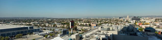 Skyline of downtown Los Angeles with clear sky Royalty Free Stock Photos