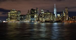 Skyline of Downtown Manhattan from Brooklyn Stock Image