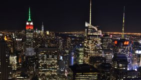 Skyline of Downtown Manhattan Royalty Free Stock Photo