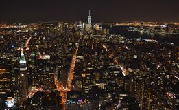 Skyline of Downtown Manhattan Stock Images