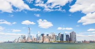 Skyline downtown Manhattan Stock Photo