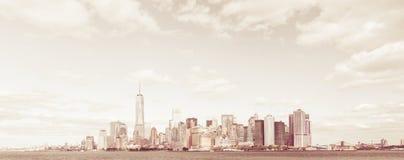 Skyline downtown Manhattan Royalty Free Stock Photo