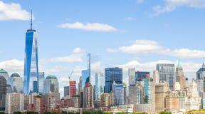 Skyline downtown Manhattan Stock Image