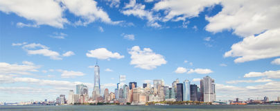 Skyline downtown Manhattan Stock Images