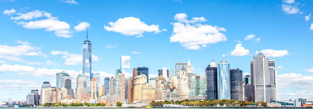 Skyline downtown Manhattan Stock Image