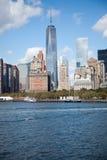 Skyline Downtown Manhattan New York. City Royalty Free Stock Photo