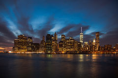 Skyline Downtown Manhattan Royalty Free Stock Photo
