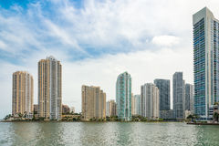 The skyline of downtown Miami Royalty Free Stock Photography