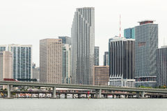 The skyline of downtown Miami Stock Image